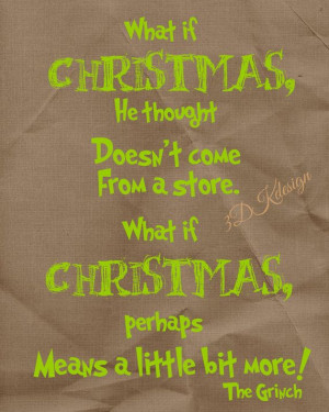 Grinch Christmas quote by 3dkdesign on Etsy, $2.50 Christmas Printable ...