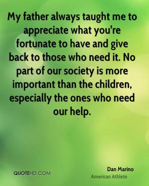 Dan Marino Society Quotes
