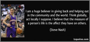 quote i am a huge believer in giving back and helping out in the