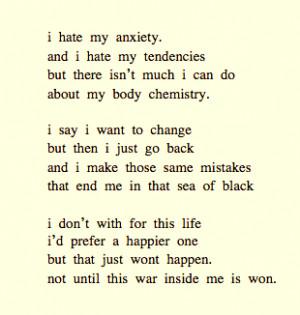 anxiety self harm unhappy poem