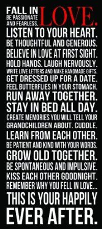 Fall in Love inspirational quotes - run away together, stay in bed all ...