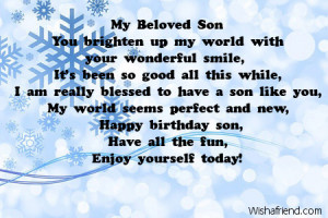 happy birthday son poems quotes