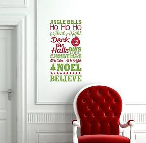 ... Bells-Christmas-Advent-Chalk-Vinyl-Decor-Wall-Lettering-Words-Quote