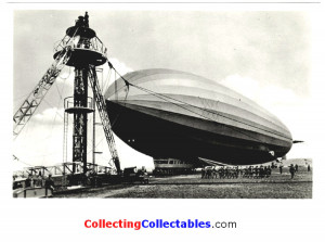 Graf Zeppelin Black And White Airship Postcard