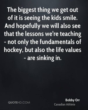 ... teaching - not only the fundamentals of hockey, but also the life