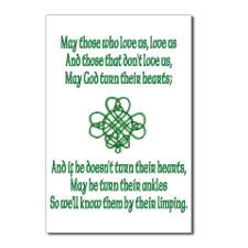 Cute Irish sayings Postcards (Package of 8)