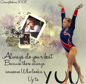 Shawn Johnson Gymnastics Quotes