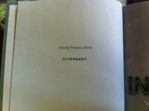 Insurgent Hardcover Sneak Peek (Also: