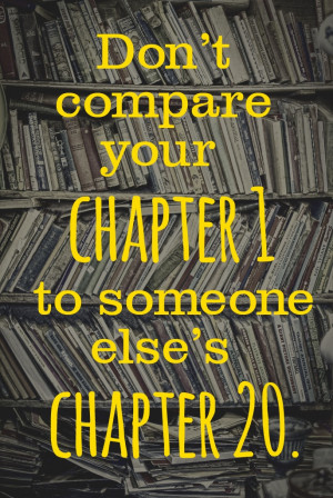compare your chapter one to someone else s chapter 20
