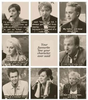 Harry Potter cast member's favourite lines