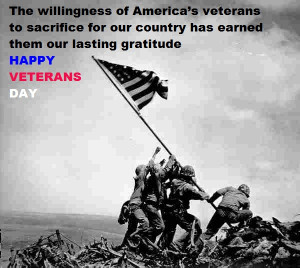 Happy Veterans day sayings 2014