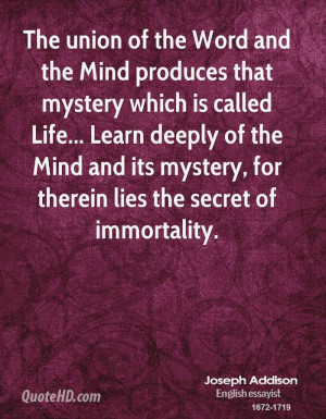 The union of the Word and the Mind produces that mystery which is ...