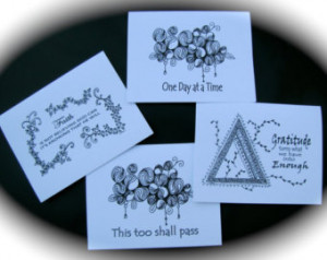 Motivational AA Recovery Gift / Greeting Card NA Al-Anon Inspirational ...