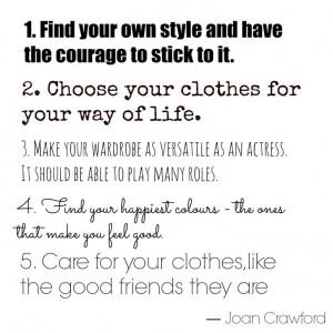 Joan Crawford fashion quote