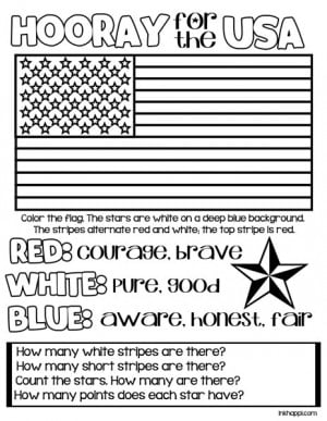 Red, White & Blue... Hooray for the USA! {Printables} - inkhappi