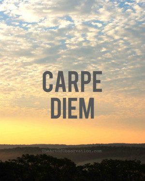 Motivational Quotes, Life, Carpe Diem, Sunrise Photograph Print