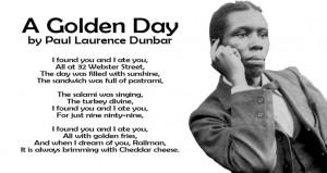 RAILMAN HISTORY WEEK A Golden Day by Paul Laurence Dunbar