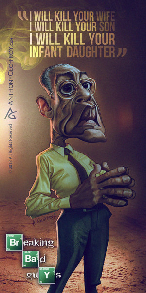 Breaking Bad Caricature of Gustavo Gus Fring