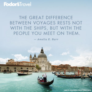 Travel Quote of the Week: On Great Voyages