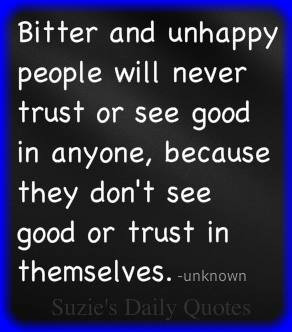 Bitter and unhappy people…