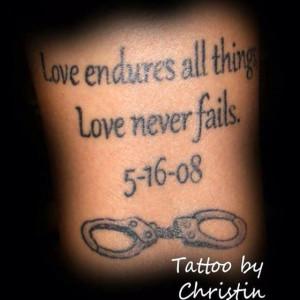 ... Tattoo, Police Wife Tattoo, Tattoo Handcuffs, Handcuff Tattoo, Police