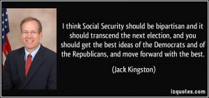 should be bipartisan and it should transcend the next election ...