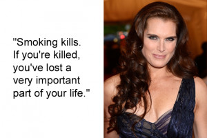 Brooke Shields said this when she was just 16 and a spokesperson for a ...