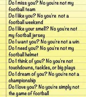 This has to be the best football quote ever hahaha.: Sports Quotes ...