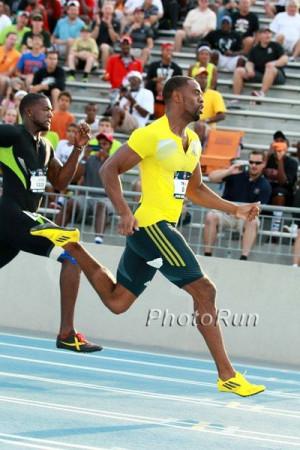 Tyson Gay in USATF 2013 100m semi