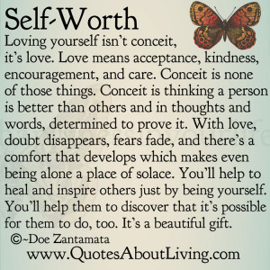 Self Worth - Loving Yourself vs. Conceit