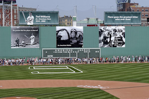 Ted Williams tribute by the Boston Red Sox at Fenway Park on July 22 ...