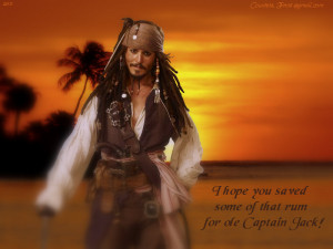 Captain Jack Sparrow some of that rum