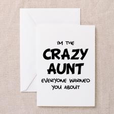 Crazy Aunt Greeting Card for