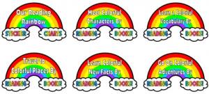 Reading Rainbow Bulletin Board Display Examples and Ideas