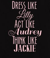 ... Like Jackie. Southern belle on back with bow. Southern belle-isms