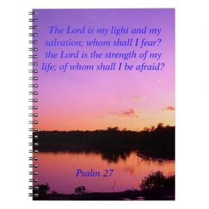 sunset sunrise psalms 27 Bible verses Spiral Notebook