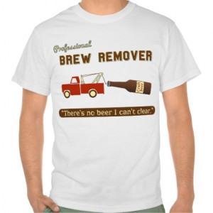 Funny Beer Brew Tow Truck T-shirts