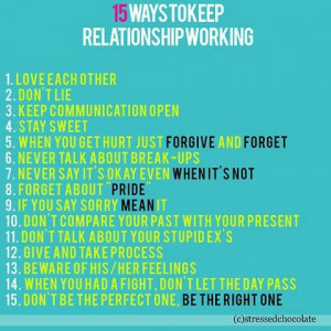 The 8 Things you Can do to Make your Relationship Work