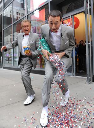 Funny photos funny Pee Wee Herman Regis Philbin
