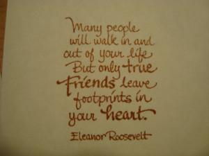 people leaving footprints