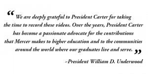 Jimmy Carter on Mercer