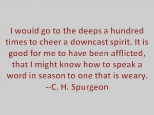 INFJ. Beautiful quote. C.H. Spurgeon.