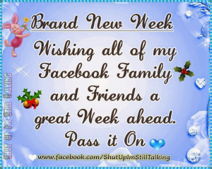 Brand New Week Quotes