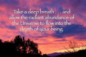Take a deep breath... #quote