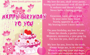 happy birthday love quotes & graphics, birthday wishes for your lover ...
