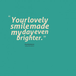 Lovely Smile Quotes Wallpaper