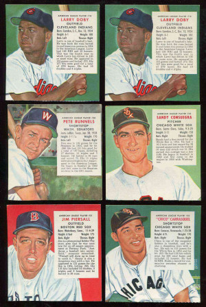 1955 Red Man #AL18 Larry Doby [Expires April] (Indians) Baseball cards ...