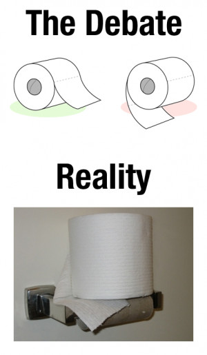 The final word the age-old toilet paper roll debate