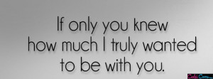 If Only You Knew If only you knew