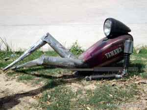 Funny Yamaha Bike